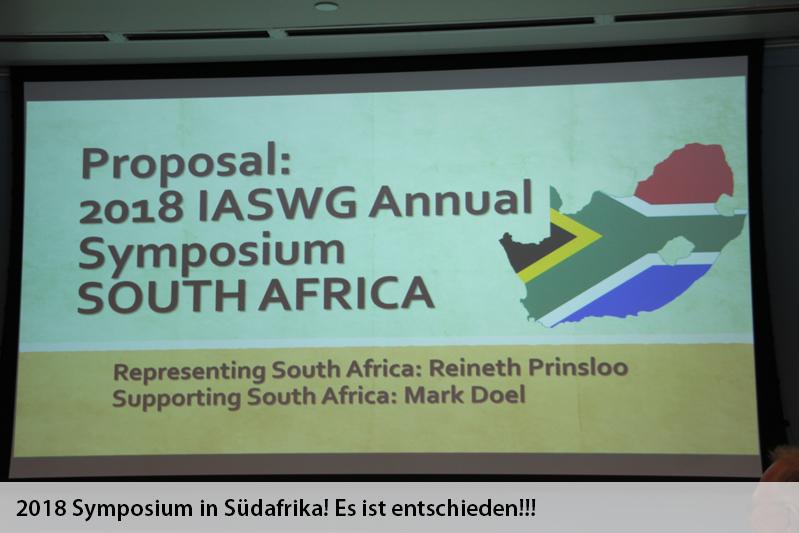 2018 Symposium in  Südafrika!!! Es ist entschieden!