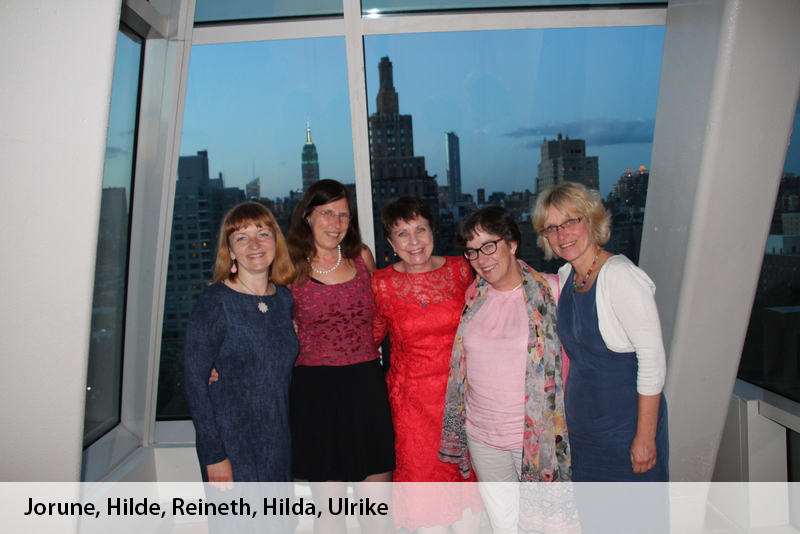 v.l.n.r. Jorune,Hilde,Reineth, Hilda,Ulrike